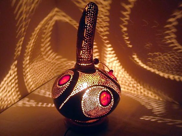 Amazing Art Inspired Gourd Lamps (24)