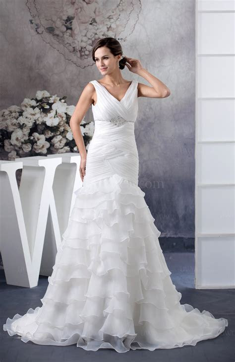 Allure Bridal Gowns Trumpet Sleeveless Organza Expensive