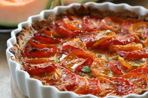 French tomato and mustard tart / Prantsuse sinepine tomatipirukas