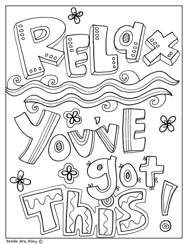 Educational Quotes Coloring Pages Classroom Doodles