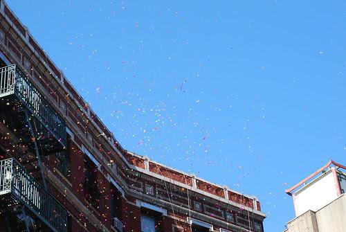 Confetti showers
