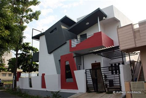 modern duplex house design  bangalore india  ashwin