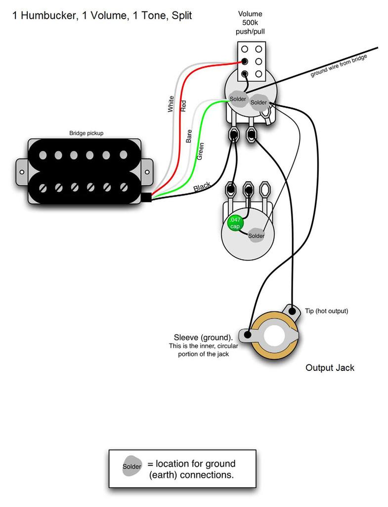 Guitar Wiring 1 Humbucker 1 Volume