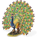 Bejeweled Proud Peacock Trinket Box with Charm Pendant - BJ2089