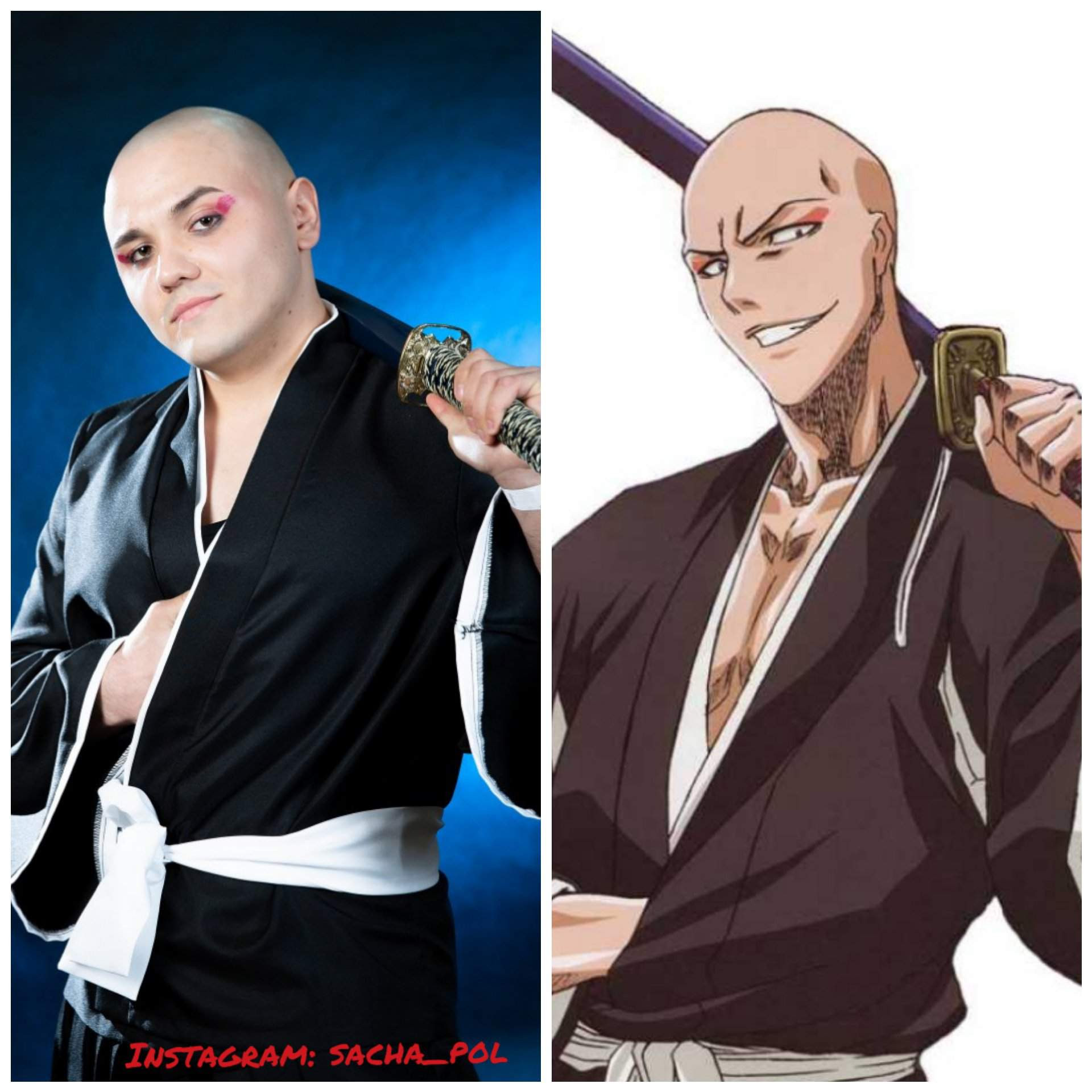Anime Bleach Cosplay Ikkaku Madarame Instagram Sacha Pol Anime Amino