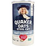 Quaker 100% Whole Grain Steel Cut Oats Canister - 30oz
