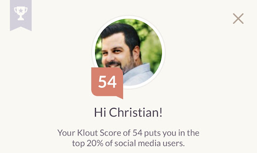 Goodbye Klout