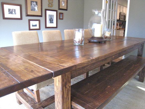 NEW AND IMPROVED Farmhouse Table Details « Tommy & Ellie