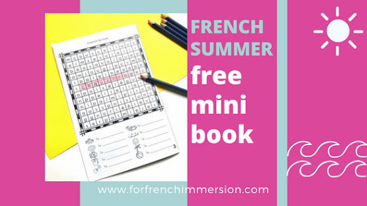 French Summer Mini-book - For French Immersion