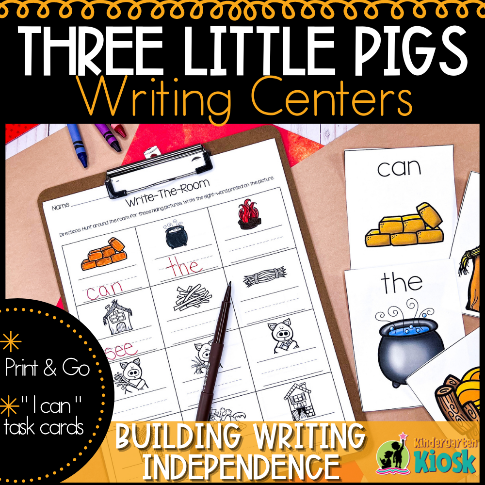 The Three Little Pigs: Writing Center Activities