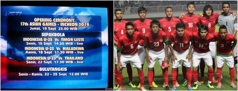 Jadwal Siaran Langsung RCTI Timnas U23 Di Asian Games 2014  Aneka Info Unik