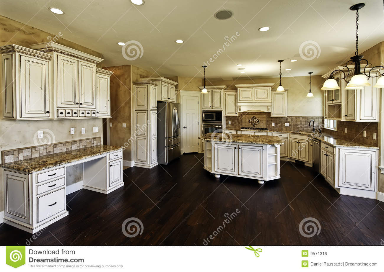 Huge New Kitchen And Dining Room Royalty Free Stock Image - Image