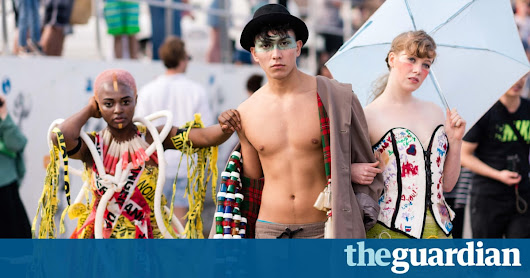 'Trashion' designer Marina DeBris turns ocean rubbish into high-end outfits – in pictures | Art and design | The Guardian