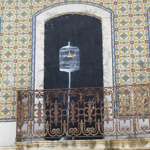 #graffiti #citylandscape #urbanart #urbanlandscape #birdcage by Joaquim Lopes