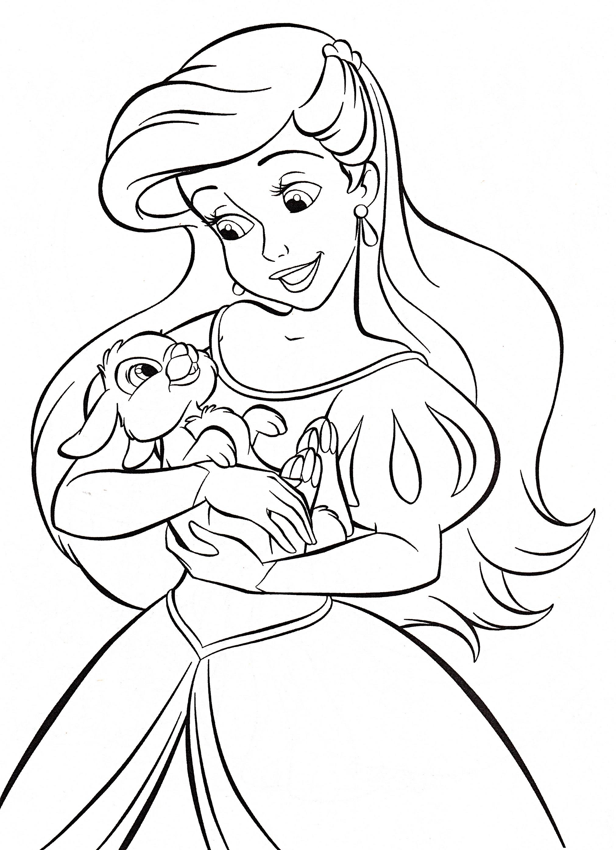 Walt disney Coloring Pages - Princess Ariel - personajes ...