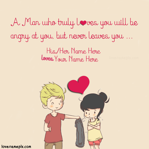 write name on sweet couple quotes for her picture love name
