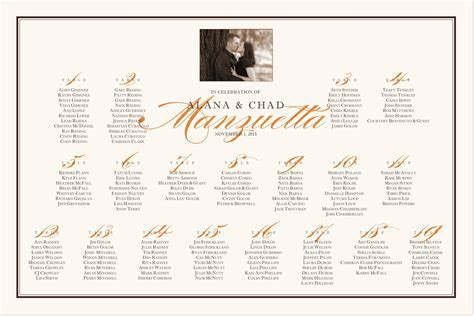 Pretty Silhouette Photography Wedding Seating Chart