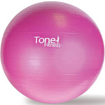 ToneFitness Anti Burst Resistant Exercise Ball, Pink