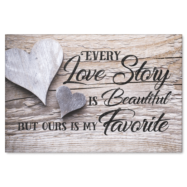 Canvas Wall Art For Couples Our Love Story Is My Favorite Quote