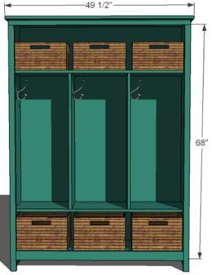 Entryway Storage Locker Bench | Simple Home Decoration