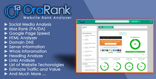Download Source code OraRank - Website Rank & Value Analyzer nulled | OXO-NULLED