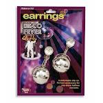 Disco Ball Earrings - 67790 - White - One Size