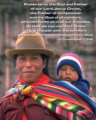 Inspirational illustration of 2 Corinthians 1:3-4