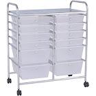 Costway 12 Storage Drawer Organizer Bins Rolling Cart