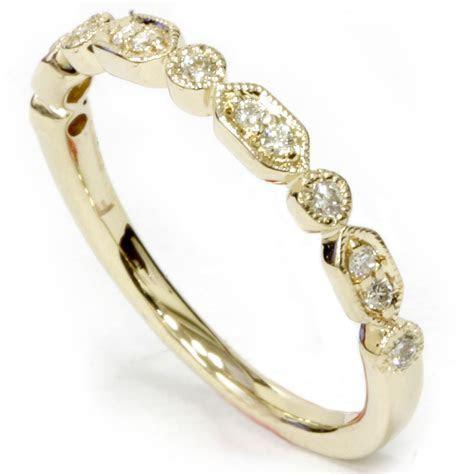 1/6ct Diamond Wedding Stackable Ring 14k Yellow Gold   eBay