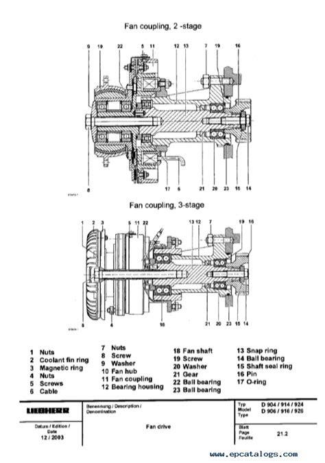 Liebherr D 904-906-914-916-924-926 Engines Service Manual PDF