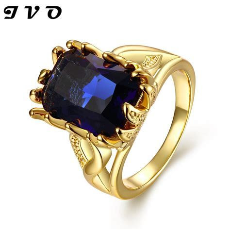 24k real yellow gold rose gold zircon stone fashion rings