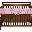 Trend-Lab Crib Wrap Rail Guard for Long Rail, Maya Dot Percale