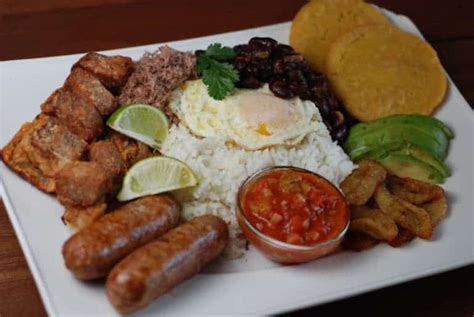 colombia bandeja paisa  feast   platter