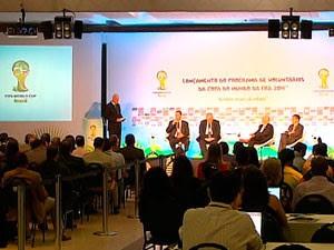Programa de Voluntariado da Copa do Mundo é lançado em Salvador (Foto: Imagens/ TV Bahia)