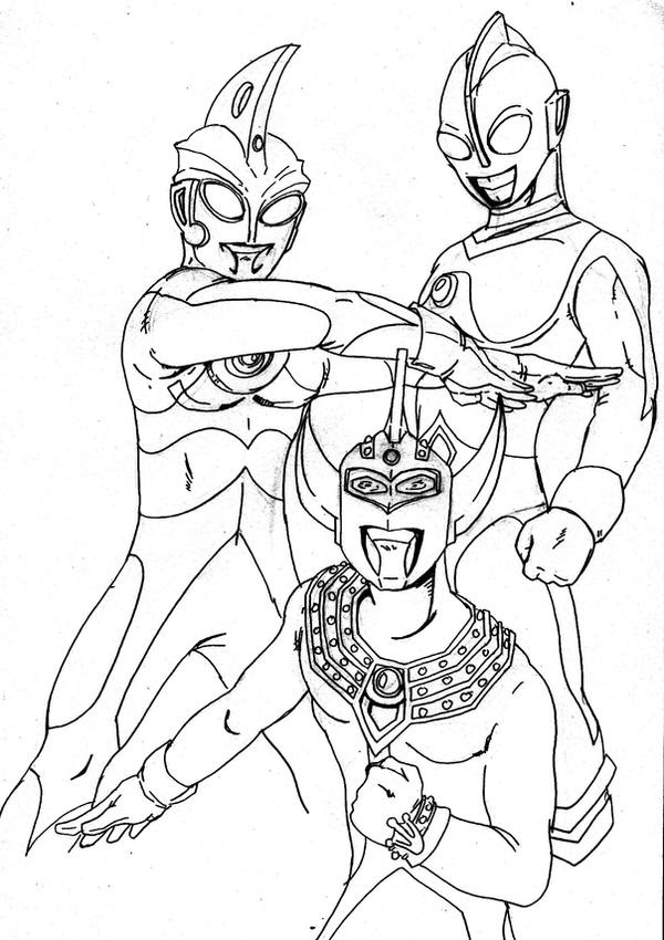ultraman zero coloring pages - photo#13