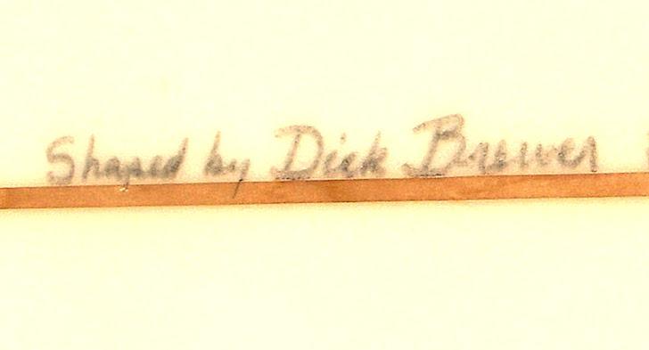 Signed surfboard: the designer trademark