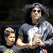 Rock 'n' Roll dad! Slash spends some quality time with his mini-me son in LA