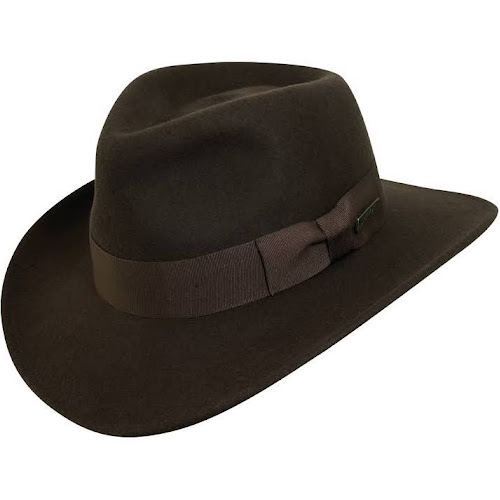 7e1b5db84 Men's Indiana Jones Wool Felt Outback Hat, Size: Large, Brown