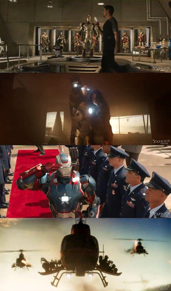 Screenshots from IRON MAN 3.
