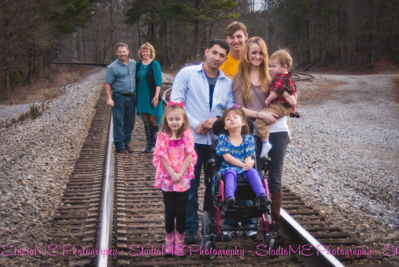 McKenzie Carey with her family.