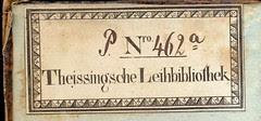 Etikett der Theissingschen Leihbibliothek