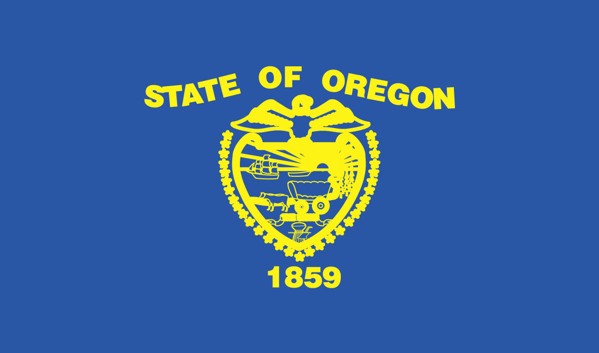 oregon printable flag