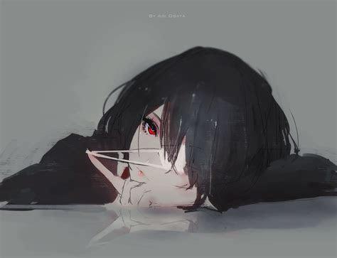anime  original anime anime girl mei misaki red