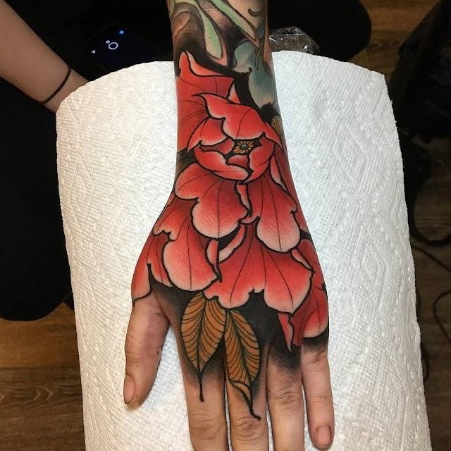 Flower Tattoo On Hand For Girl For Men - Tattoosastic