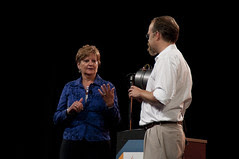 """Sherry Covell and Adam Messinger, JavaOne 2011 San Francisco """"Java Strategey Keynote"""""""