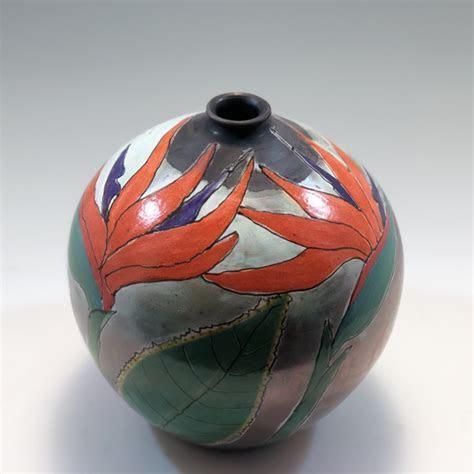 Bird of Paradise Flower Vase