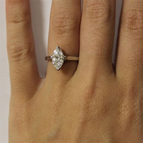Tiffany & Co. Platinum Marquise Cut Solitaire Engagement Ring