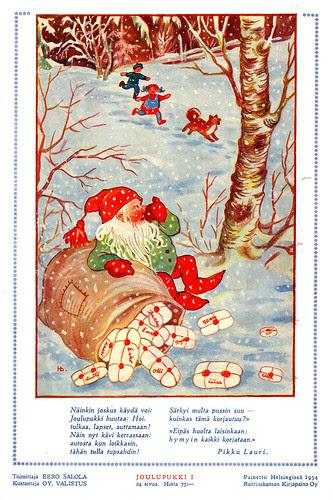 Joulupukki 1954 takakansi