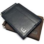 RFID Slim Spring Money Clip Wallet - Front Pocket Credit Card Holder
