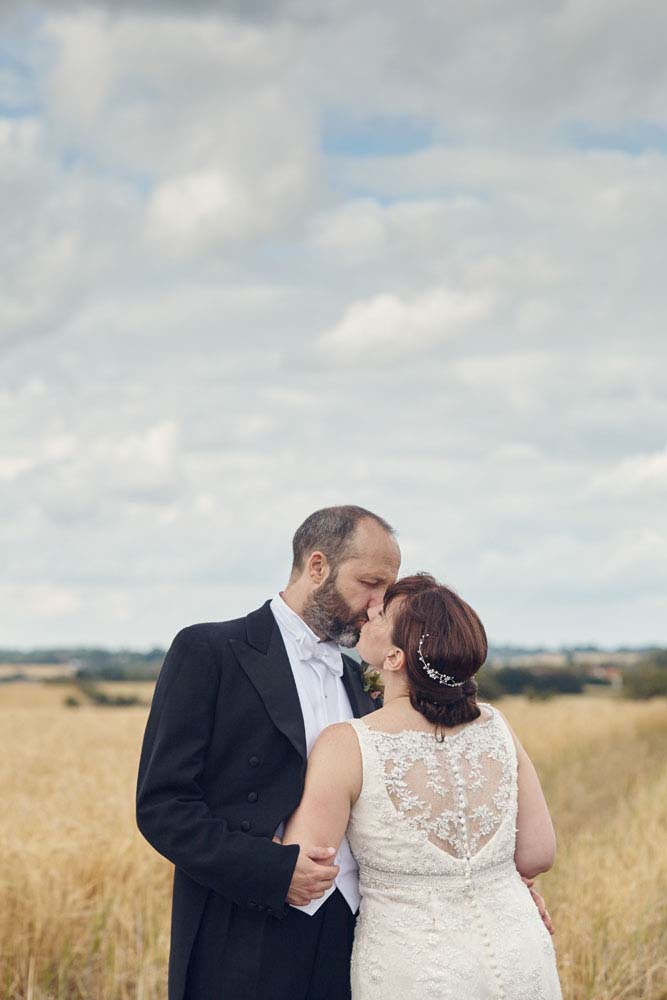 Romantic photo of bride and groom at Stoke-by-Nayland - www.helloromance.co.uk